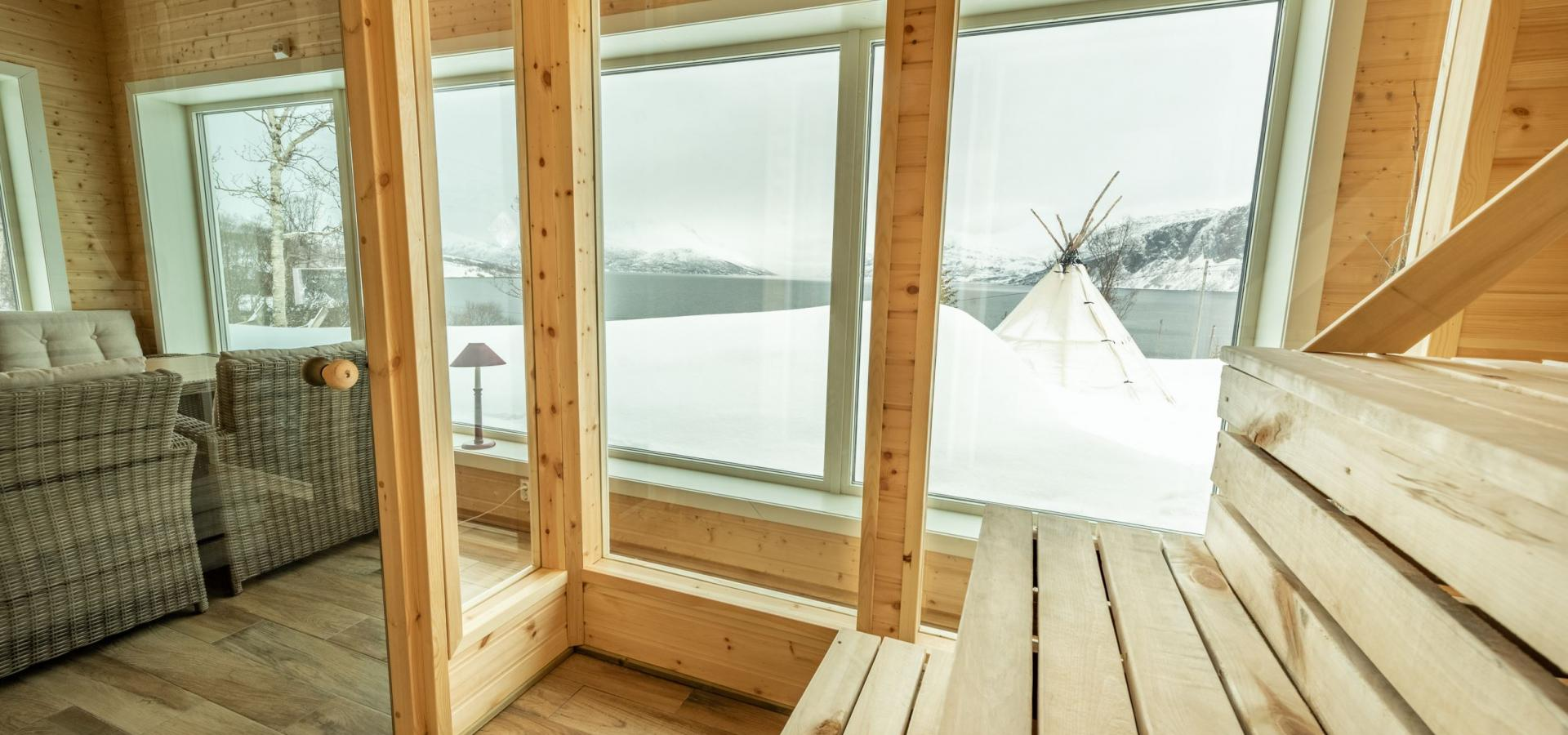 The sauna with a view.
