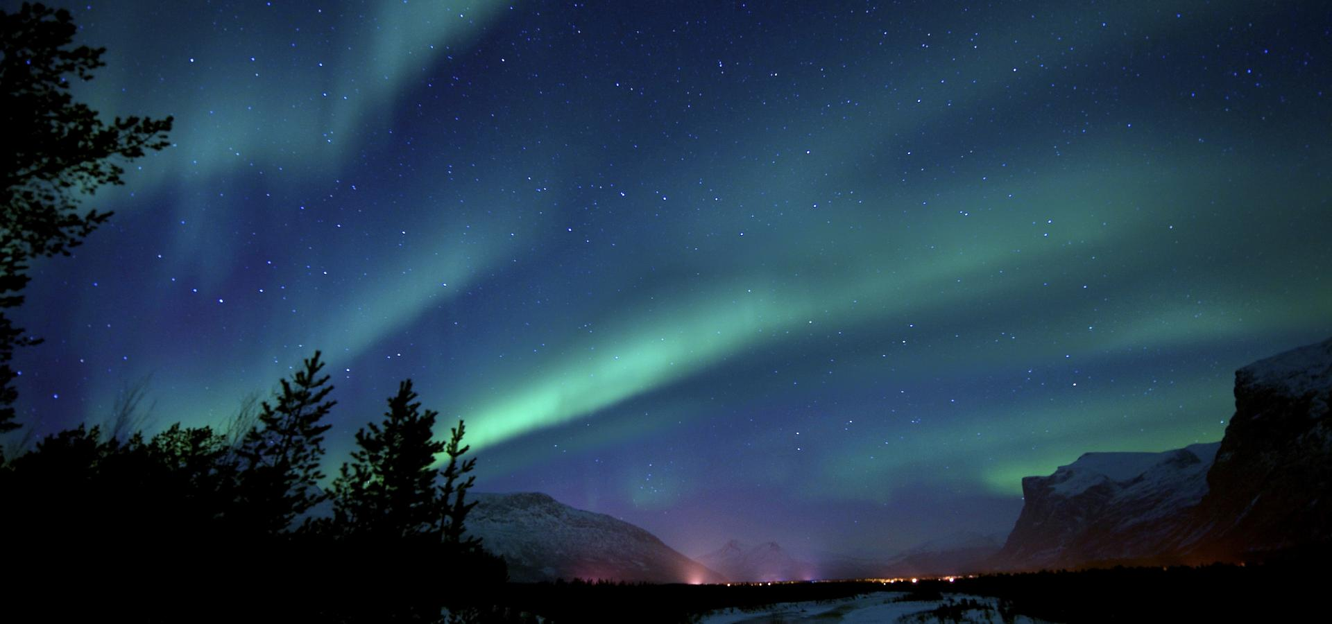 Northern Lights at Reisa National Park, Northern Norway