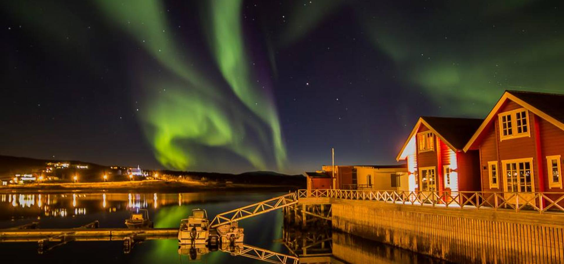 Northern Lights at XLyngen in northern Norway