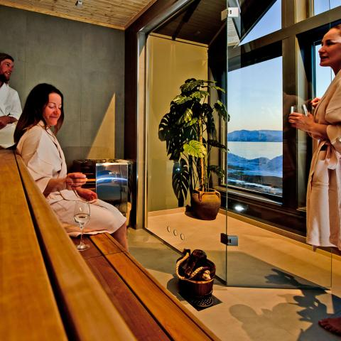 Sauna ved Lyngen Experience Lodge, Nord Norge