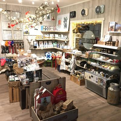A cozy shop with local products